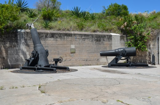 Mortars at Fort De Soto.