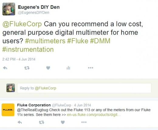 Fluke recommend the 113 meter for general purpose home use