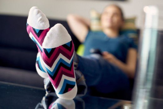 Sort through your sock drawer and get rid of any socks, tights, and stockings with holes, lumps and bumps. Don't be tempted to darn...the stitches could rub and cause damage to your feet.
