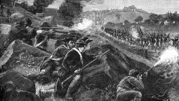 Engraving of the Battle of Lexington in 1775