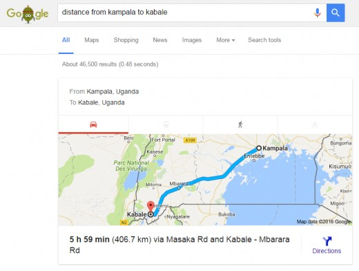 You can get the distance between two places in the same country.