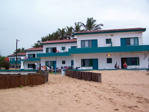 View of the beachfront units from the beach.