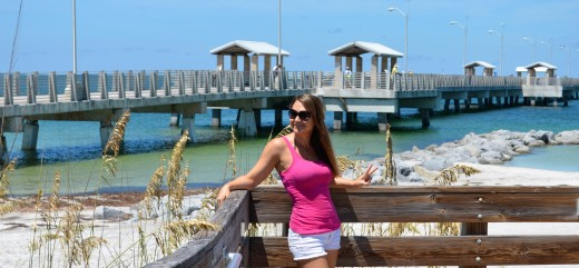 Me in front of Gulf pier.