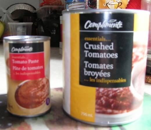 crushed tomatoes plus paste makes for a thick and rich sauce