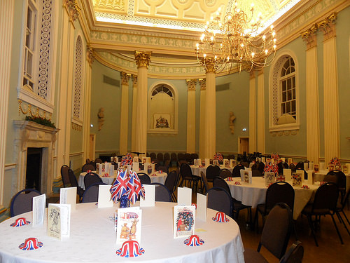 The Assembly Room (Ballroom) in Newark Town Hall laid out for a dinner function