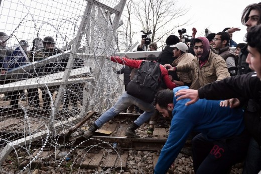 Migrants Forcing Their way Into Europe