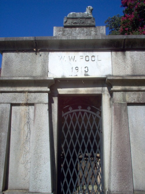 Picture of front of mausoleum.