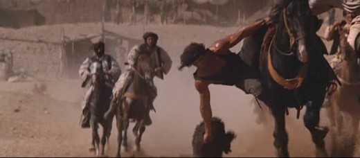 Sylvester Stallone playing Buzkashi in the movie Rambo 3