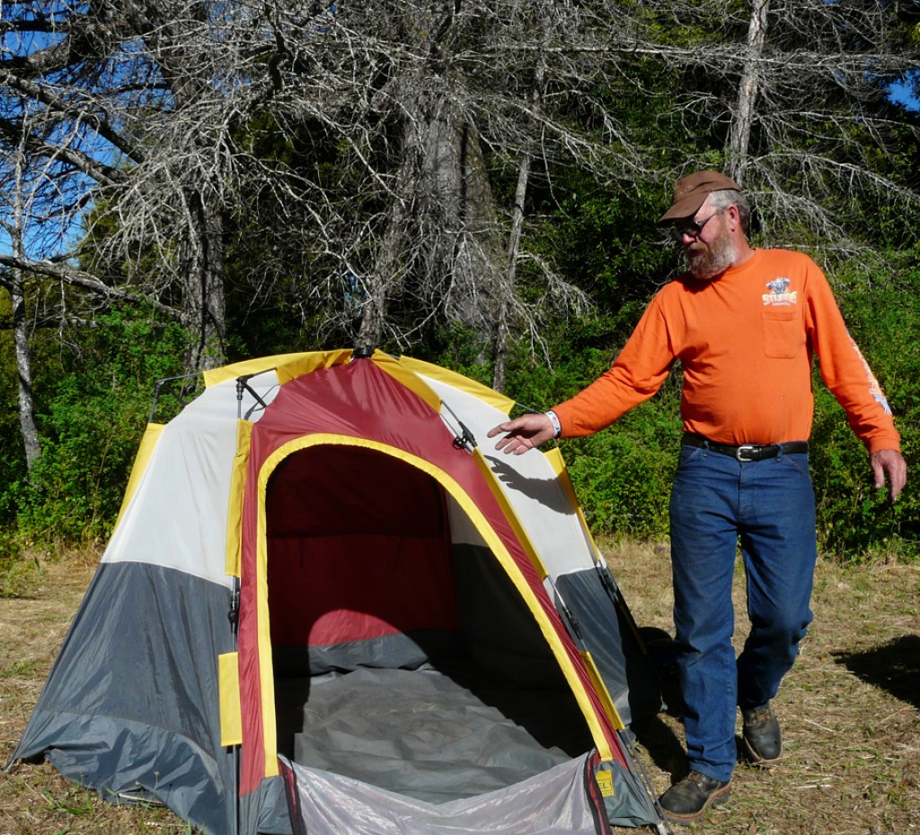 60 Second Tent And Other Stuff For Motorcycle Camping