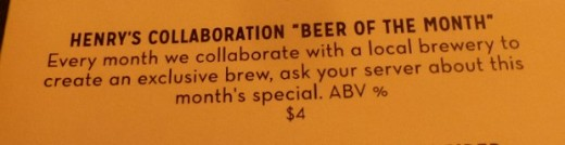 Sadly, the author of this menu has accepted the comma splice as acceptable usage.
