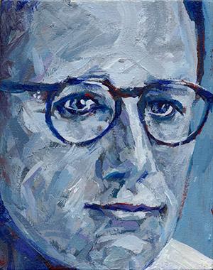Portrait of David Leavitt.