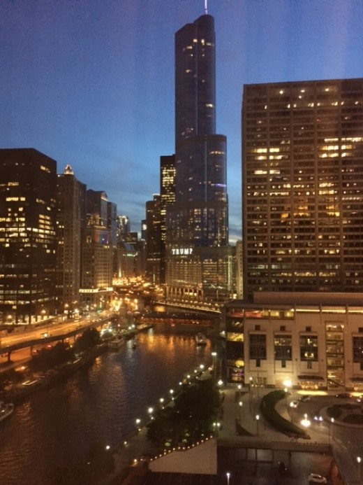 View from our room at the Sheraton Grand Chicago
