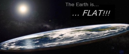 Flat earth as believed by some in the Christian faith.