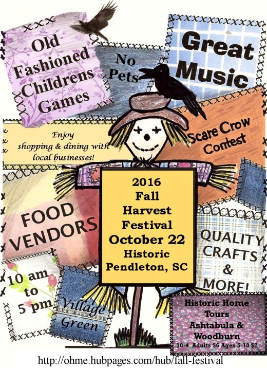 Fall Harvest Festival in Pendleton SC October 22, 2016