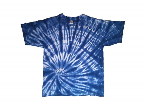 Tie-dyed t-shirt.