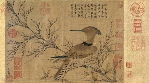 Hundreds of years ago the Hoopoe was considered sacred in Egypt.  In Ancient Egypt the Hoopoe was a very popular as a pet for children. The Egyptians often had the Hoopoe in their wildlife paintings.  They would also put them on the walls of temples