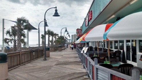 The Myrtle Beach boardwalk offers miles of hotels, shops and restaurants. Copyright Scott Bateman