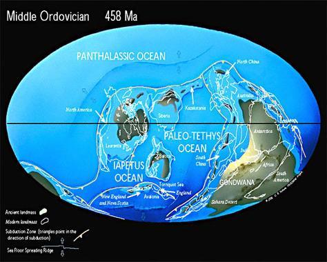 Ordovician Map
