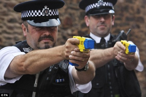 A taser is one of the  best defensive weapons  today for police officers  to defend themselves