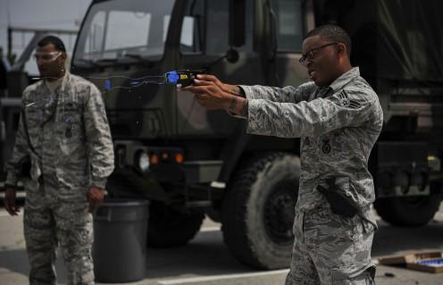 U.S. Air Force taser training