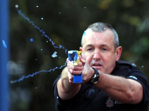 Tasers not only  stop but paralyze  offenders temporarily