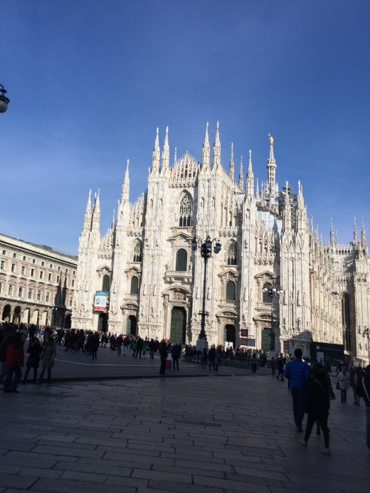 The Milan Cathedral, one of the most famous Italian monuments.