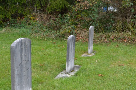 The grave yard on the farm in the town of Memories