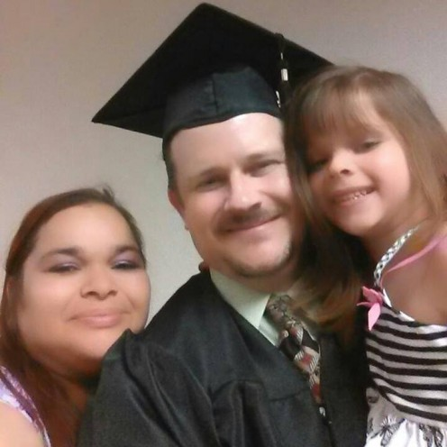 My family and me at my graduation from Epic Bible College