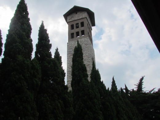 This historic tower was located near Livorno, Italy where we travelled.
