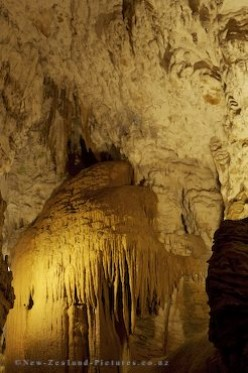Ancient Stalagmites and Stalactites fill the main cavern where the source of Blackwater Stream surfaces.