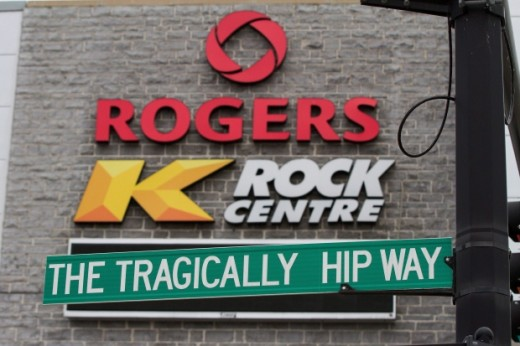 the address of the arena in their hometown Kingston is 1 The Tragically Hip Way