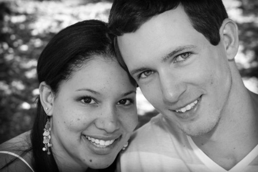 Daughter #1 - Desiree with her husband, Justin Anderson. [Photo by Ray Gosha]
