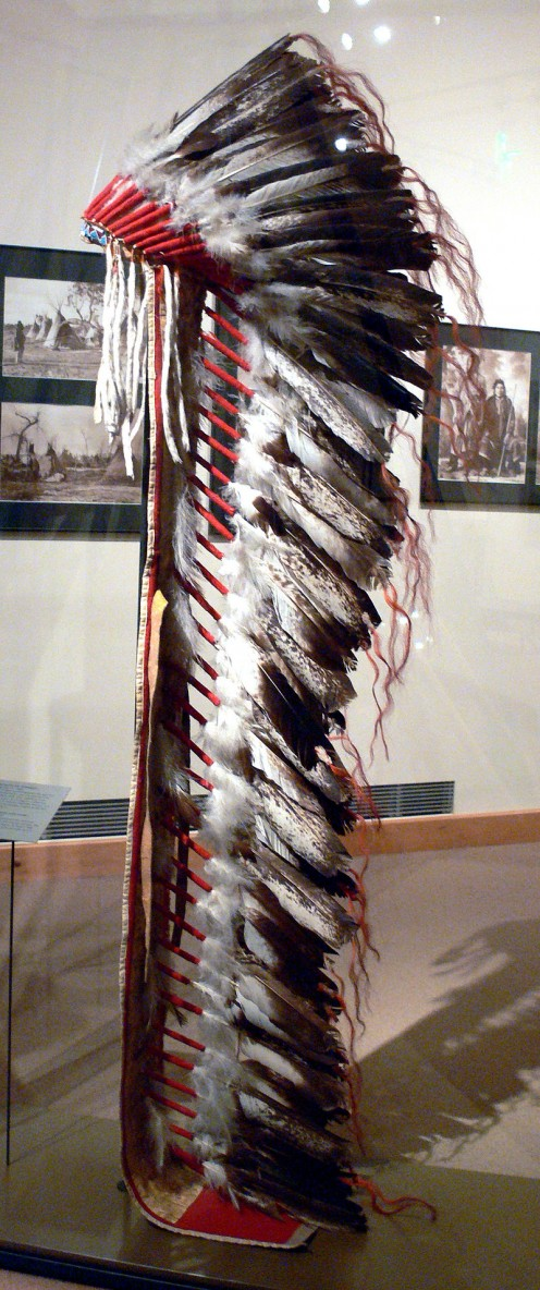 Comanche headdress, 1880.