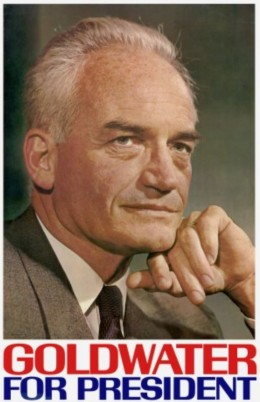 Poster of Senator Barry Goldwater in his 1964 presidential campaign