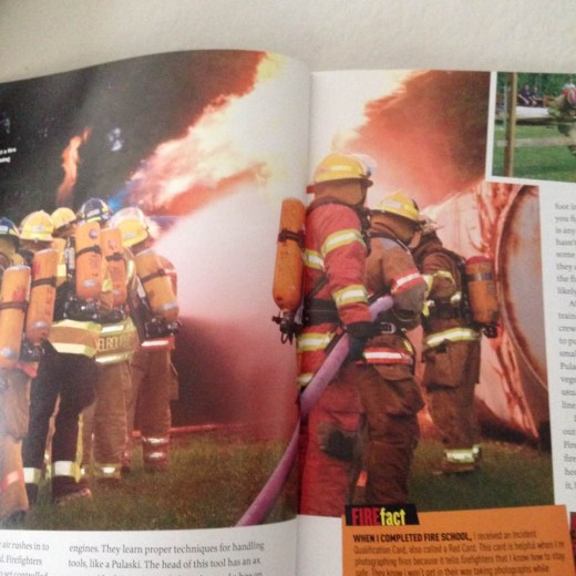 Heroic Photo of Firefighters Engaged in Fighting a Wildfire Featured in National Geographic Kids New Publication