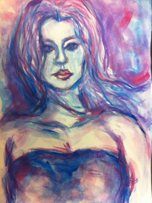 Blake Dickson's Watercolor Exhibition held at Nine Muses Art Center in Broward County FL