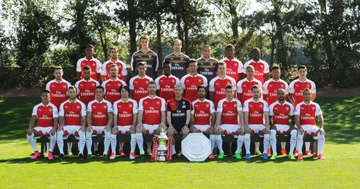 Arsenal full first team photo 2015-2016 Season