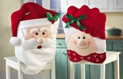 Mr. & Mrs. Claus Holiday Chair Cover Backs