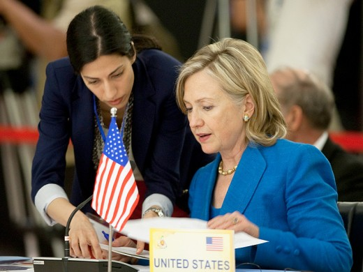 Huma Abedin and then-Secretary of State Hillary Clinton in 2010