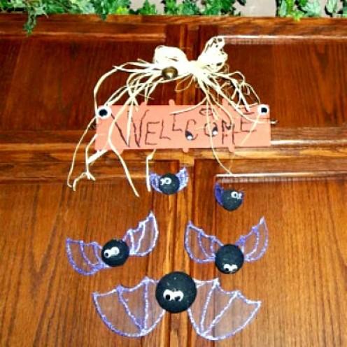 Bat Welcome Sign Craft
