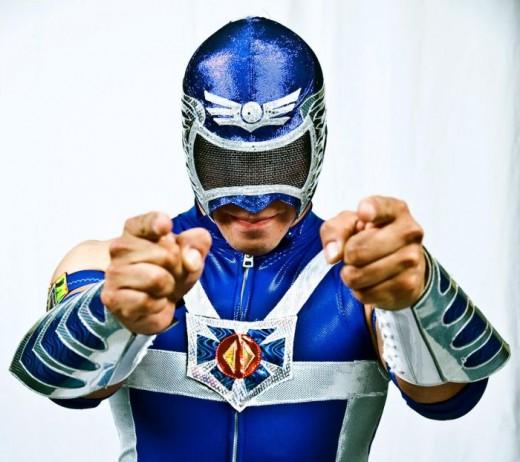 Masked Mexican luchador Aero Star