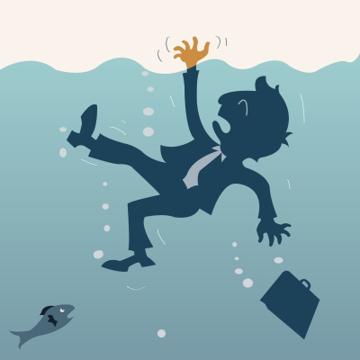 Debt and loss of income can make you feel as if you are drowning with no end in sight