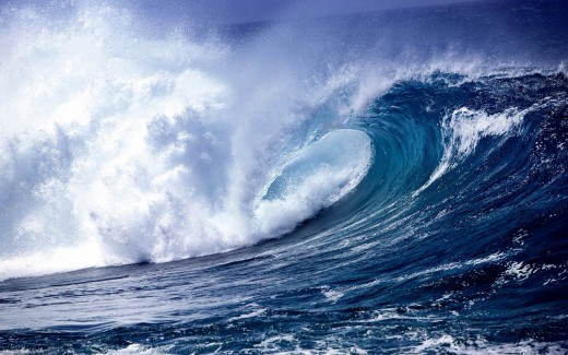 Large waves creating Earth vibration.