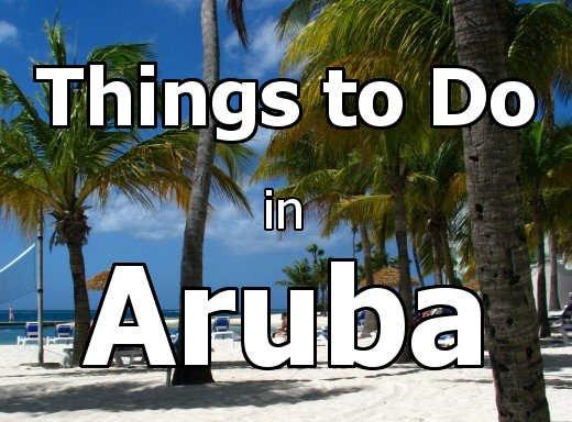 Aruba beaches are vibrant mixes of blue, green and white. Copyright Scott Bateman