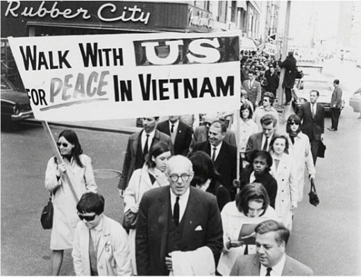 The protests against the Vietnam war were both a constant thorn in the side of the US government and a psychological weapon used on US soldiers
