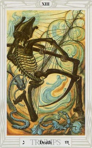 Death from the Thoth deck. Created by Aleister Crowley and Frieda Harris