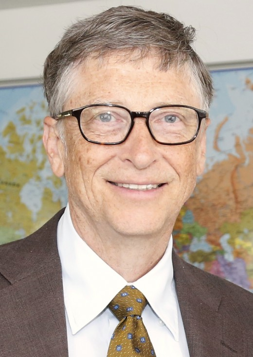 Bill Gates ,an American billionaire, and the one-time wealthiest person of the world