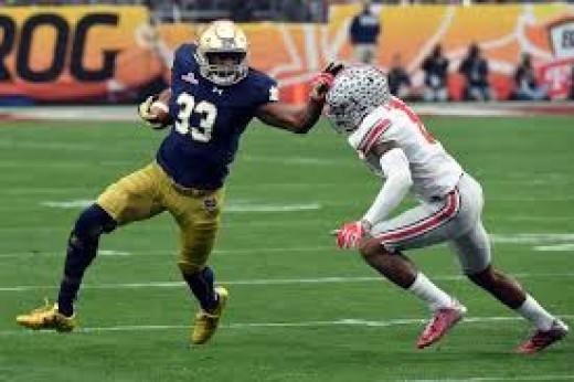 RB Josh Adams (Notre Dame) '15 117att 835yds 6td 7rec 42yds 1td