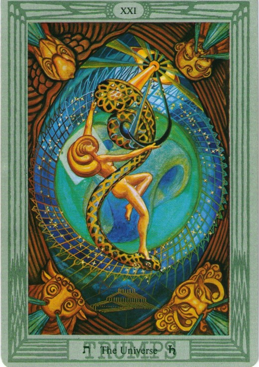 The Universe from the Thoth deck. Created by Aleister Crowley and Frieda Harris