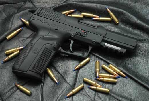 """Wikipedia: """"According to the ATF, the Five-seven is one of the weapons favored by drug cartels in the Mexican Drug War, and a smuggled Five-seven pistol can sell for up to 66,000 pesos (US$5,000) in Mexico."""""""